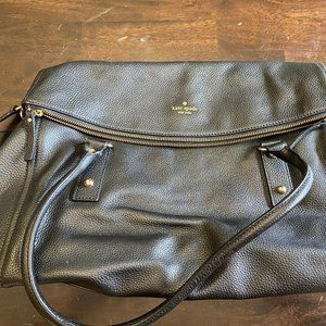 Large Kate Spade Leather Travel Tote Bag